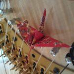 折り鶴とハープ