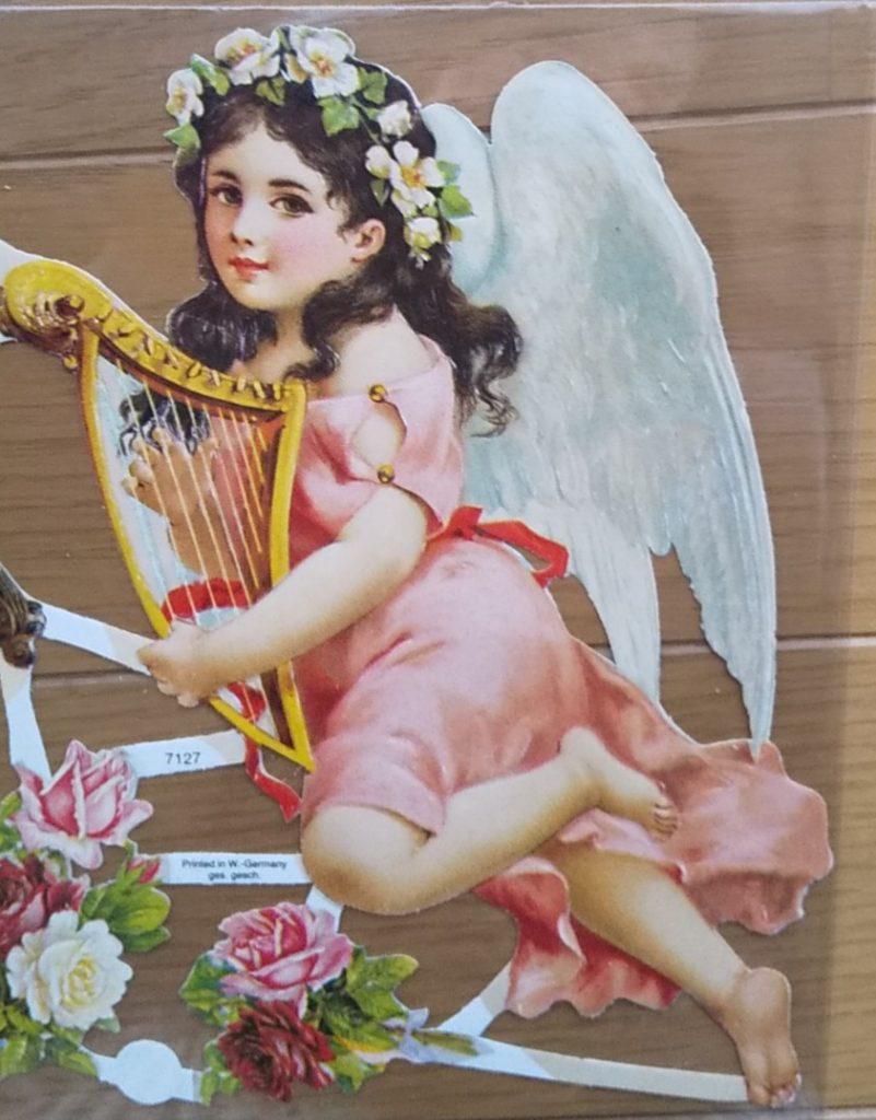 ハープと天使